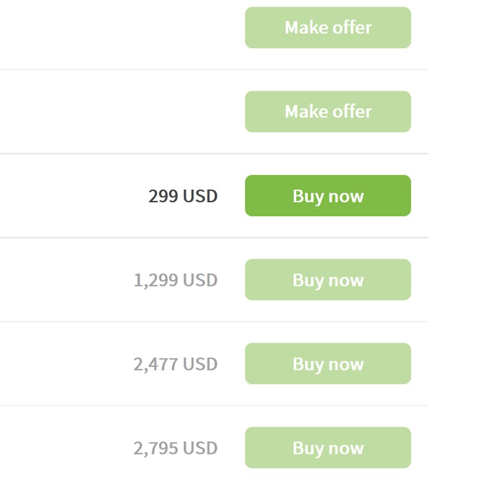 Screenshot Fixed Price